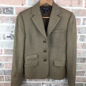 Brooks Brothers Tweed Herringbone Wool Blazer